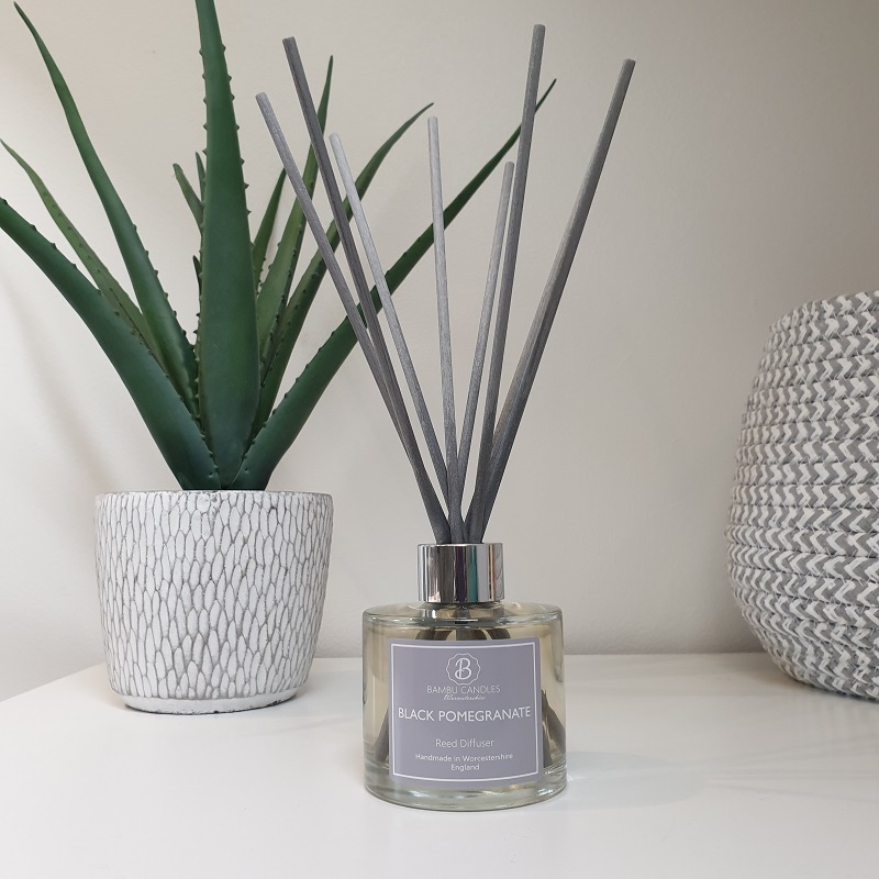 Product image for Bambu Candles Black Pomegranate Reed Diffuser