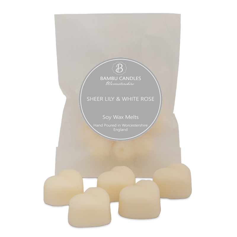 Product image for Bambu Candles Sheer Lily & White Rose Soy Wax Melts