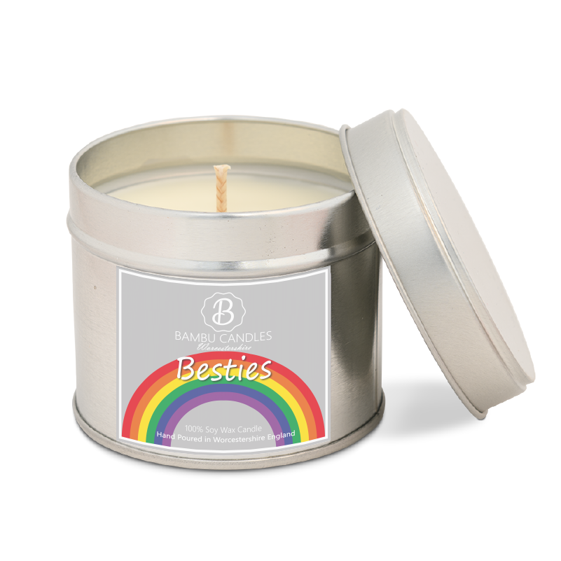 Product image for Bambu Candles Besties Rainbow Soy Candle Tin - Alien Perfume Inspired