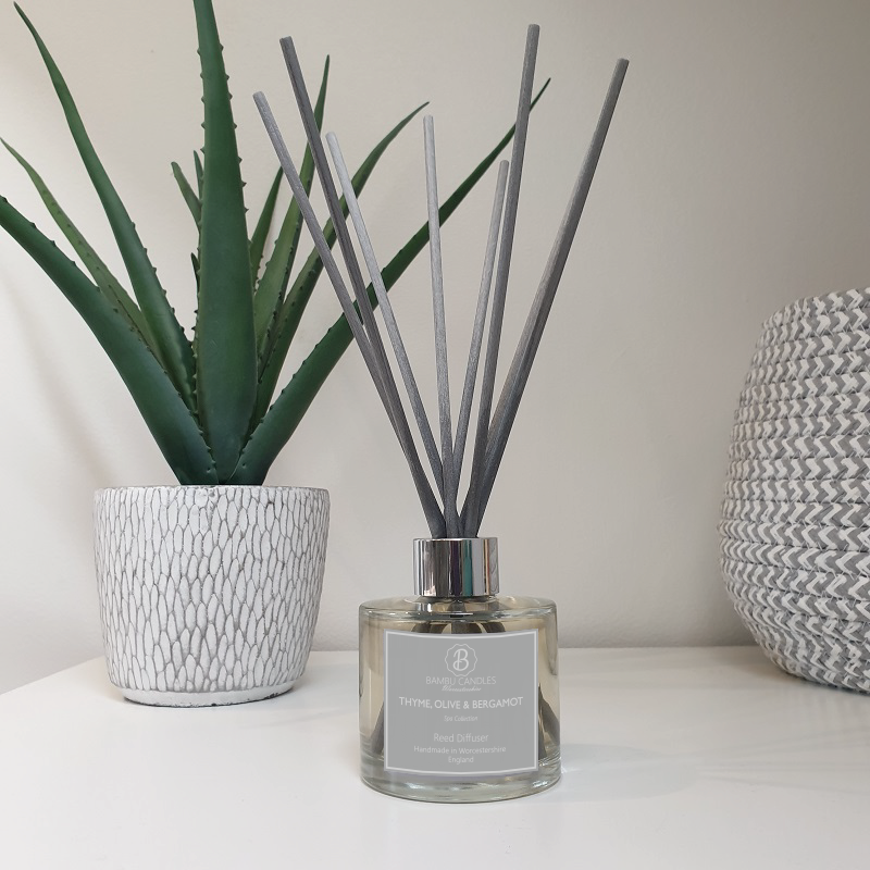 Product image for Bambu Candles Thyme, Olive & Bergamot Reed Diffuser - Spa Collection