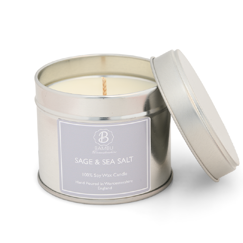 Product image for Bambu Candles Sage & Sea Salt Soy Candle