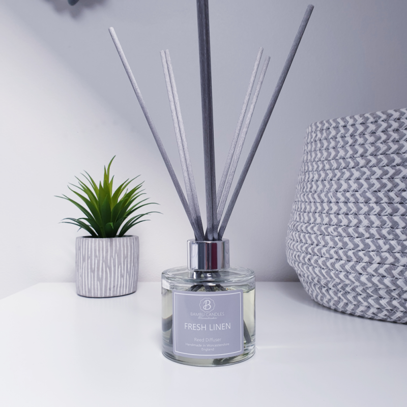 Product image for Bambu Candles Fresh Linen Reed Diffuser