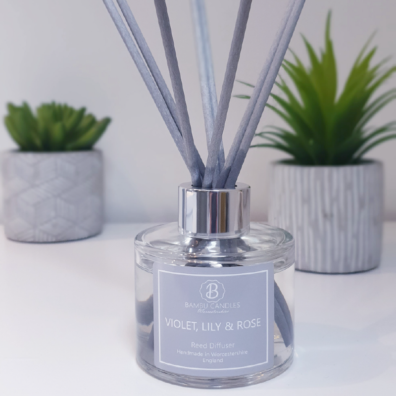 Product image for Bambu Candles Violet, Lily & Rose Reed Diffuser