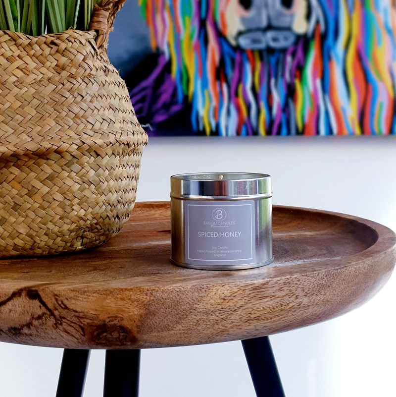 Product image for Bambu Candles Spiced Honey Soy Candle Tin