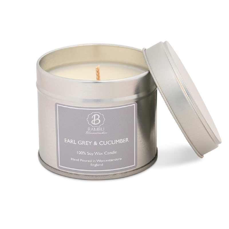 Product image for Bambu Candles Earl Grey & Cucumber Soy Candle Tin