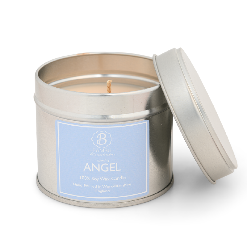 Product image for Bambu Candles Angel Perfume Inspired Soy Candle Tin