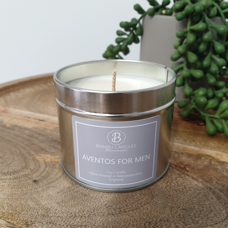Product image for Bambu Candles Aventos for Men Aftershave Inspired Soy Candle Tin