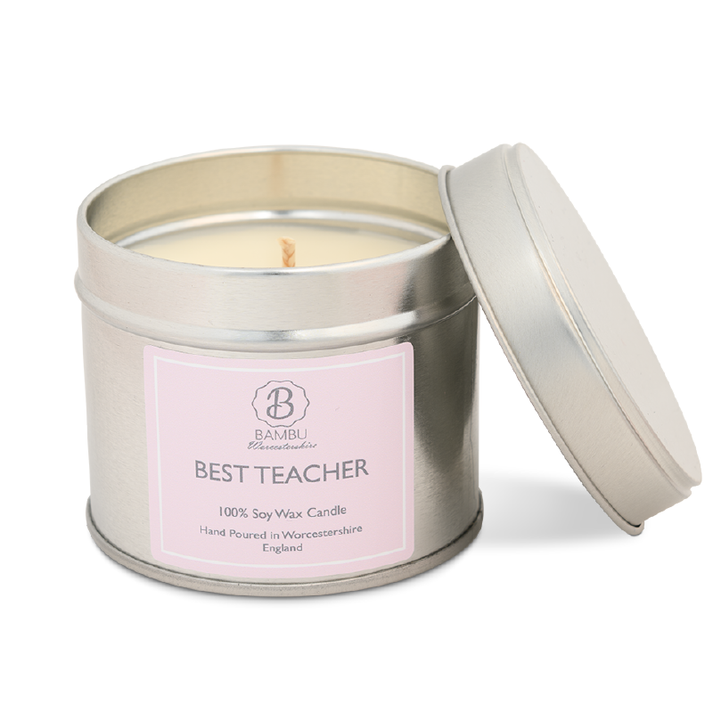 Product image for Bambu Candles Best Teacher Soy Candle Tin - Amalfi Coast